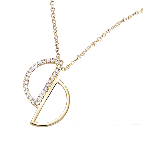 Collier Plaqué Or Demi Cercle COPHV0250CZ